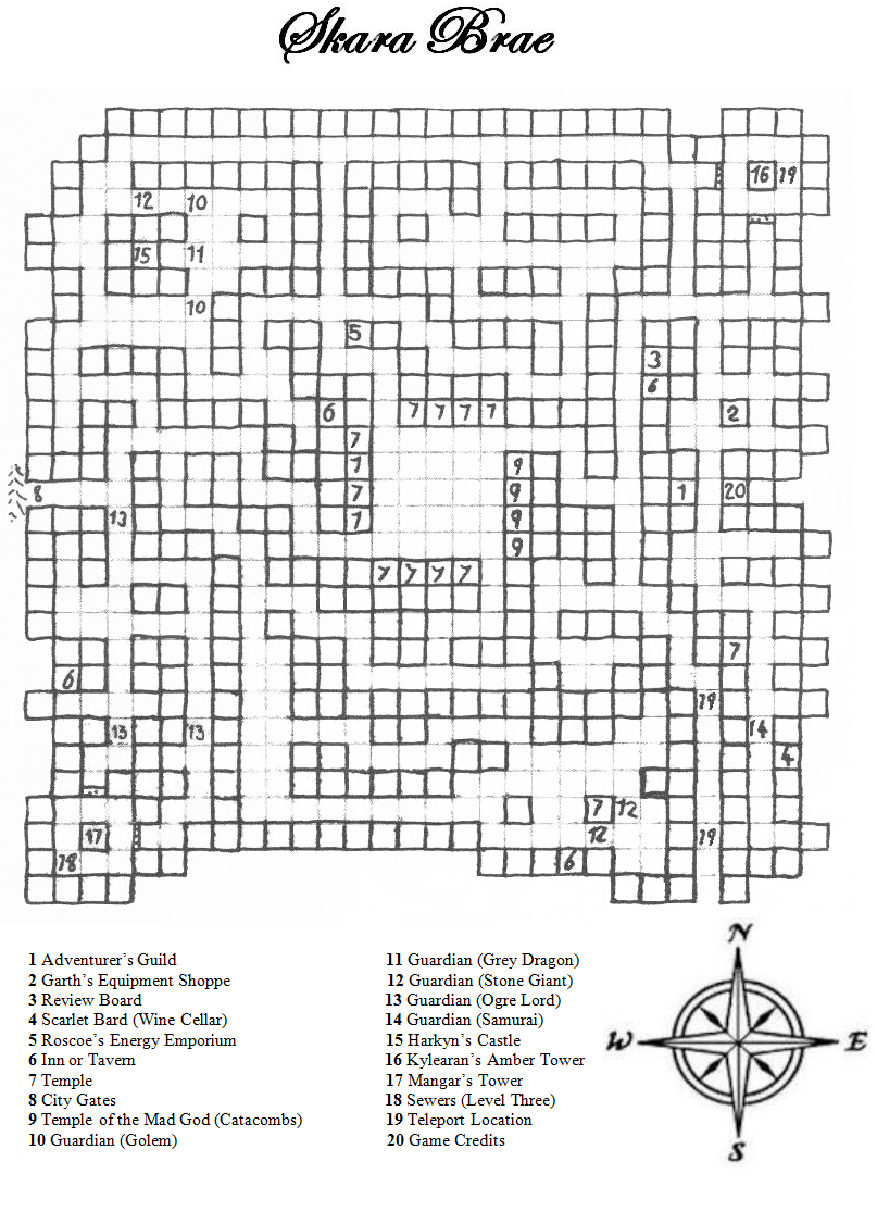 The Adventurers Guild Bard S Tale I Maps